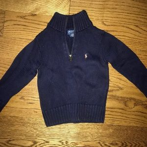 Kids Polo Quarter Zip Sweater